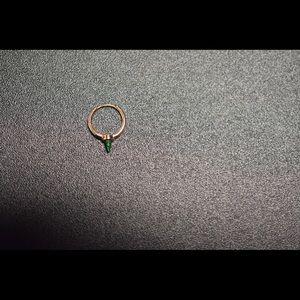 Maria Tash 9.5mm 14K Rose Gold Opal Spike Earring